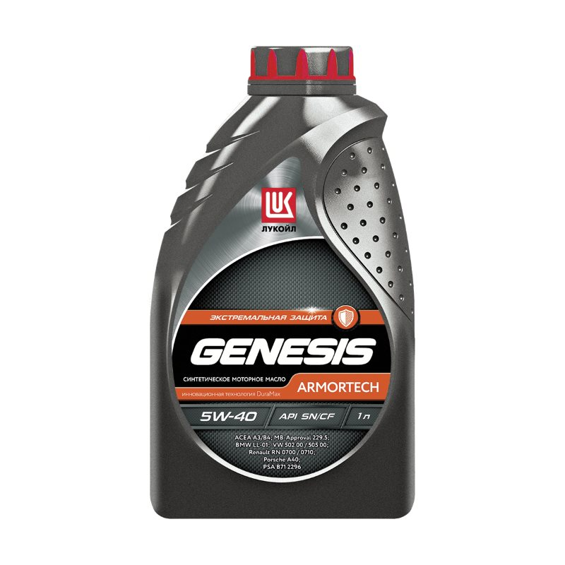ЛУКОЙЛ Genesis Armortech 5W40 SN/CF, 1л